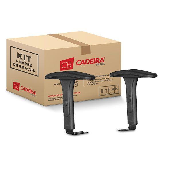 Kit com 5 Pares de Braços Regulável BR028K Cadeira Brasil
