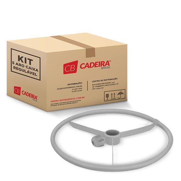 Kit com 5 Aro Caixa Regulável Cinza A011K Cadeira Brasil