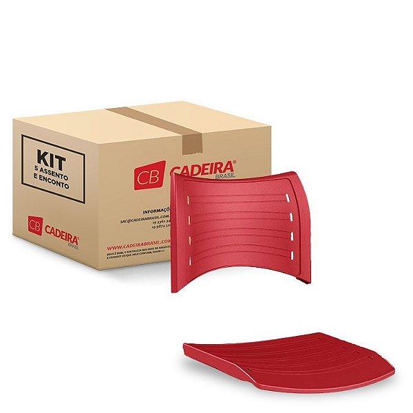 Kit com 5 Assento e Encosto ISO Original IS001K Cadeira Brasil