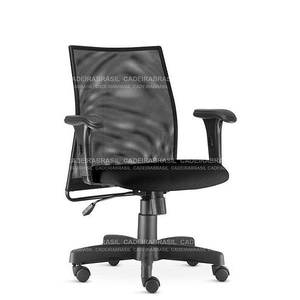 Cadeira Escritório Liss Executiva Giratória Encosto Tela Frisokar