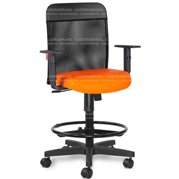 Cadeira Caixa Portaria Recepção Balcão Ergonômica Tela MNE03 Mensa