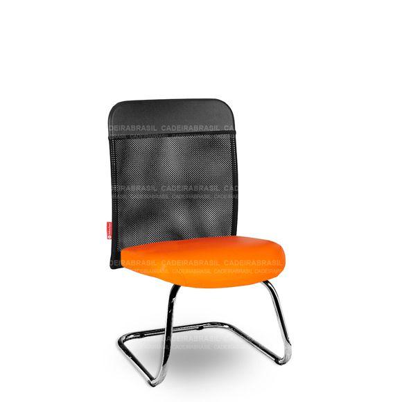 Cadeira Fixa Interlocutor Atendimento Tela MNS59 Mensa Cromada