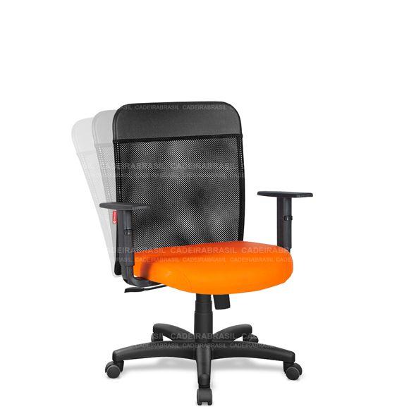Cadeira Escritório Diretor Giratória Tela com Braços MND01 Mensa