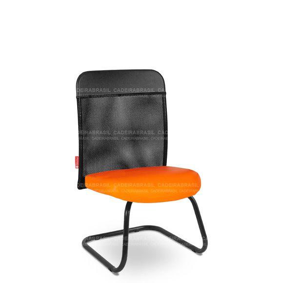 Cadeira Fixa Interlocutor Atendimento Tela MND03F Mensa