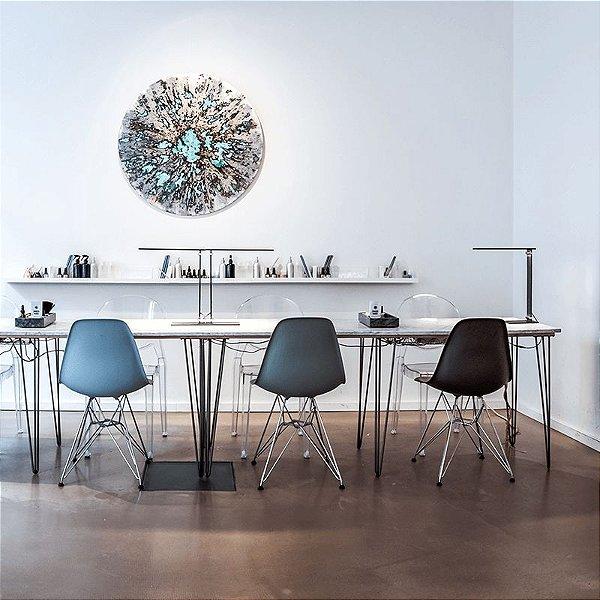 Cadeira Fixa Design Amaze Polipropileno Pés Cromado Cadeira Brasil