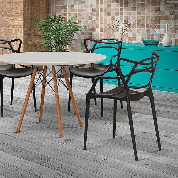 Cadeira Fixa Design Arc Polipropileno Cadeira Brasil