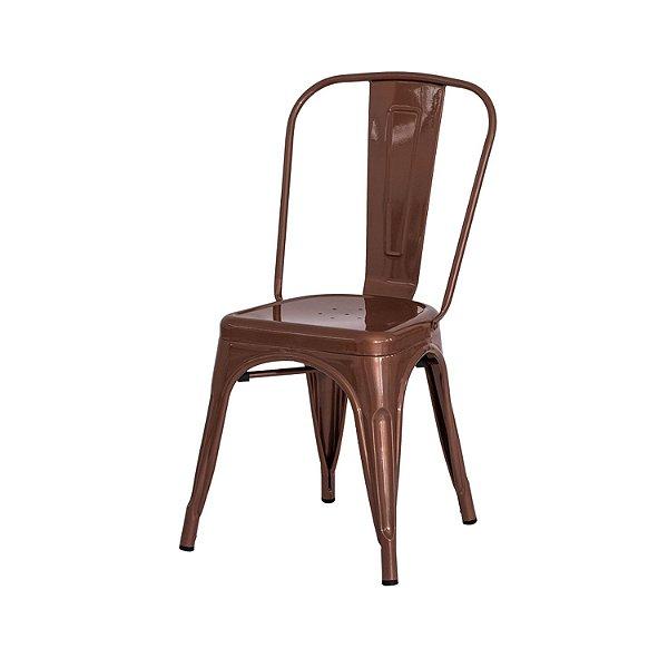 Cadeira Fixa Design Tolix Rôse Gold Cadeira Brasil