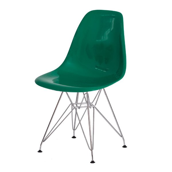 Cadeira Fixa Design Amaze ABS Pés Cromado Cadeira Brasil