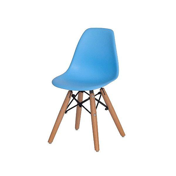 Cadeira Fixa Design Amaze Infantil Polipropileno Pés Madeira Cadeira Brasil