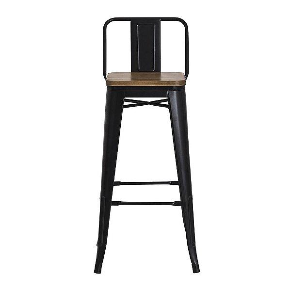 Banqueta Fixa Design Brave Assento Madeira Cadeira Brasil