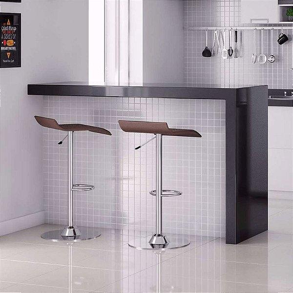 Banqueta Giratória Design Flat Cadeira Brasil