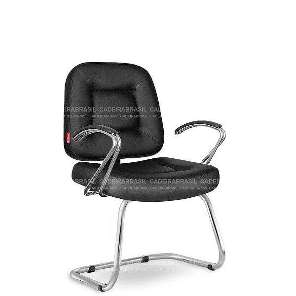 Cadeira Fixa Executiva Siena CB 1491 Braços Curvo Cadeira Brasil