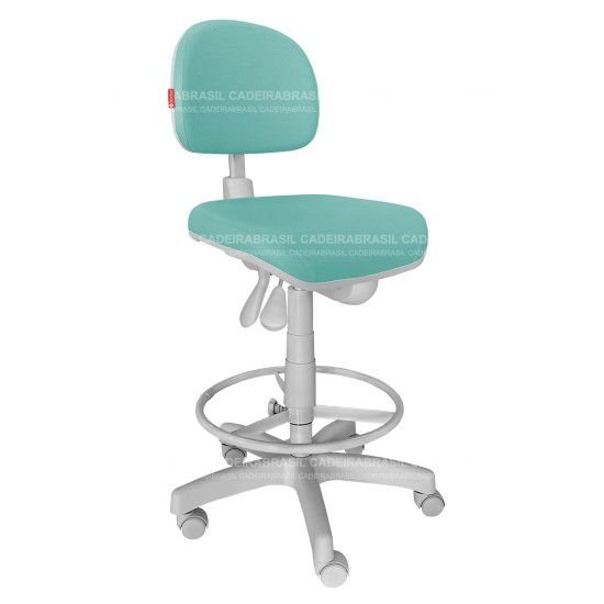 Cadeira Mocho Alto Estética, Fisioterapia, Odontologia Prime Ergonômico Cadeira Brasil CB 1507