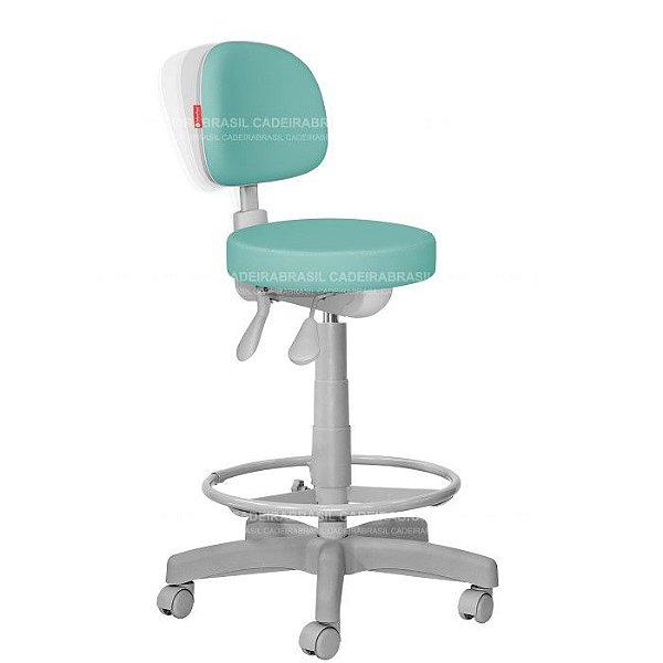 Cadeira Mocho Alto Estética, Fisioterapia, Odontologia Secretária Premium Ergonômico Cadeira Brasil CB 1557