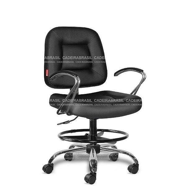 Cadeira Escritório Executiva Siena CB 1454 Apoio de Pés Cadeira Brasil