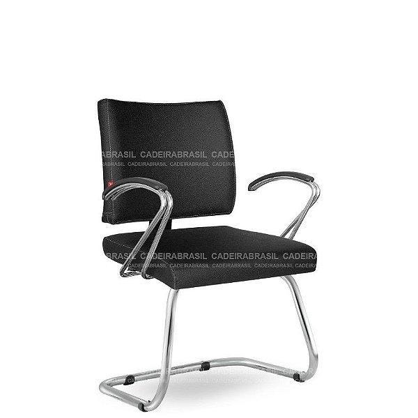 Cadeira Escritório Fixa Executiva Ideale CB 3040 Braços Curvos Cadeira Brasil
