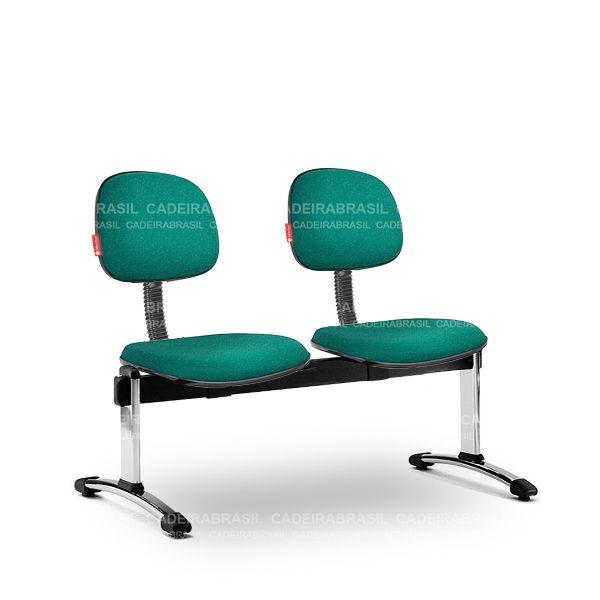 Longarina 2 Lugares Secretária Turim TRS63 Cadeira Brasil