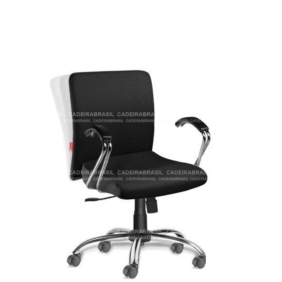 Cadeira Escritório Diretor Giratória com Braços Cerri CRD51