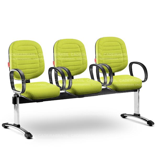 Longarina 3 Lugares Diretor Lacerta LCD61 Cadeira Brasil
