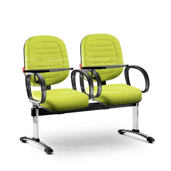 Longarina 2 Lugares Diretor Lacerta LCD62 Prancheta Escamoteável Cadeira Brasil