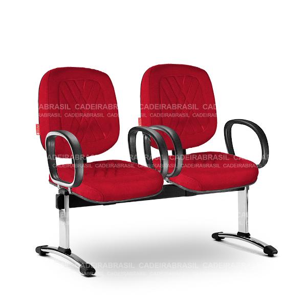 Longarina 2 Lugares Diretor Senna SND60 Cadeira Brasil