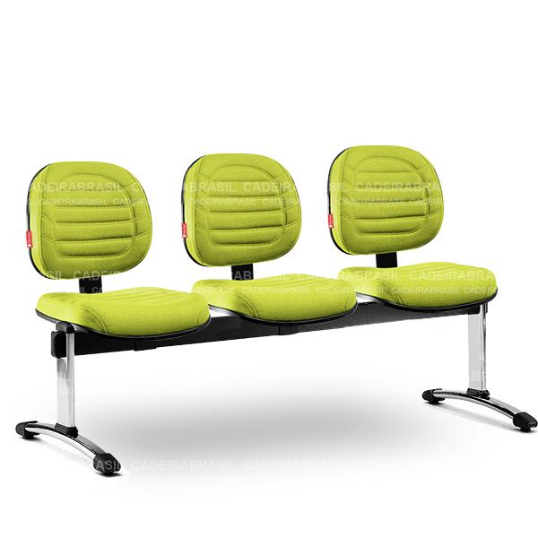Longarina 3 Lugares Executiva Lacerta LCE64 Cadeira Brasil