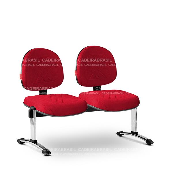 Longarina 2 Lugares Executiva Senna SNE63 Cadeira Brasil