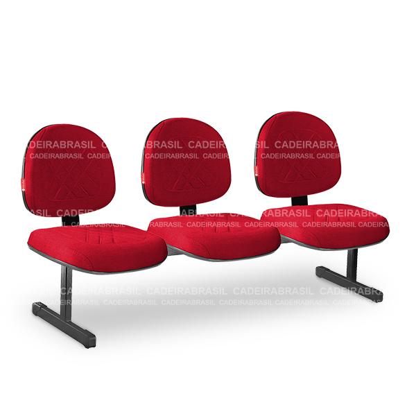 Longarina 3 Lugares Executiva Senna SNE14 Cadeira Brasil
