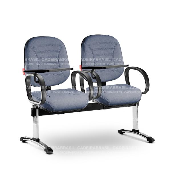 Longarina 2 Lugares Diretor Firenze FRD62 Prancheta Escamoteável Cadeira Brasil