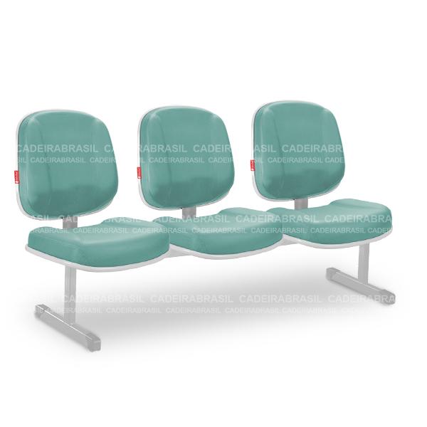 Longarina 3 Lugares Diretor Concert CND89 Cadeira Brasil