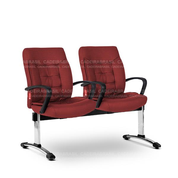 Longarina 2 Lugares Diretor Ômega OMD58 Cadeira Brasil