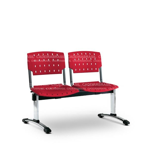 Longarina 2 Lugares Executiva Pratic PKE63 Cadeira Brasil