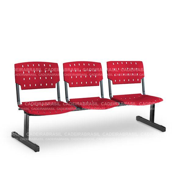 Longarina 3 Lugares Executiva Pratic PKE14 Cadeira Brasil