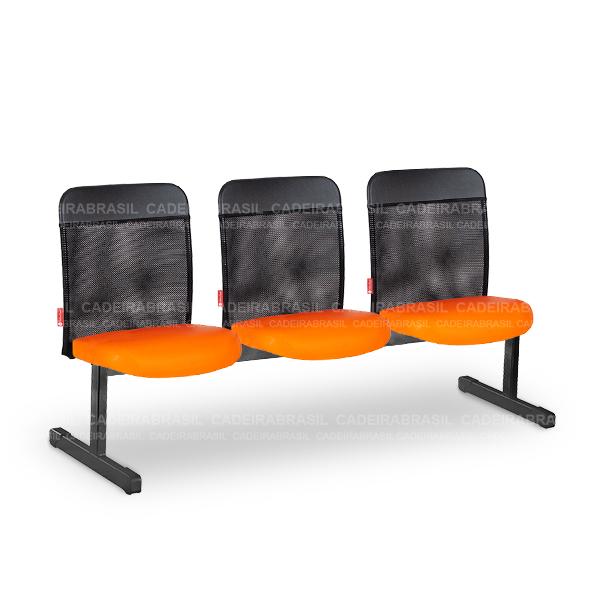 Longarina 3 Lugares Executiva Mensa MNS14 Cadeira Brasil