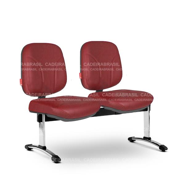 Longarina 2 Lugares Diretor Operativa OPD58 Cadeira Brasil