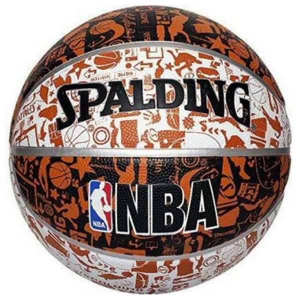 Bola de Basquete Spalding NBA Grafitti Marrom