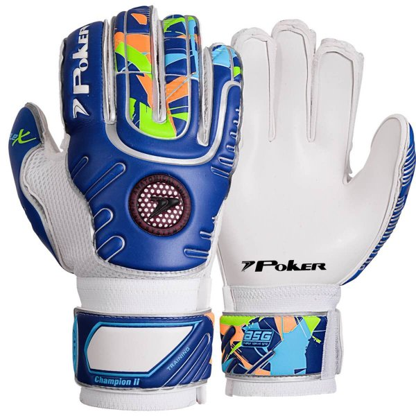 Luva De Goleiro Poker Champion II Training Top Azul
