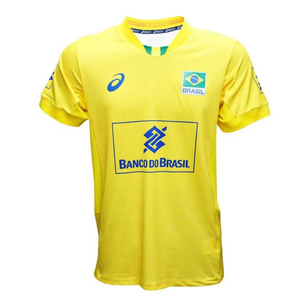Camisa Vôlei Asics Brasil Vôlei CBV Amarelo