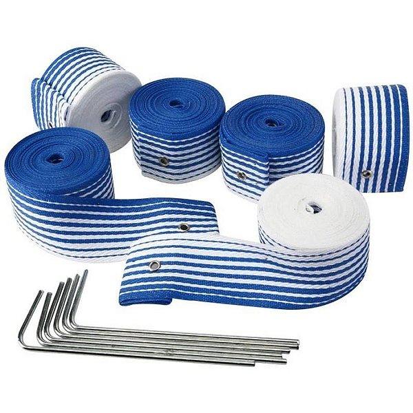Marcação Fita Beach Tenis Profissional 5cm Azul