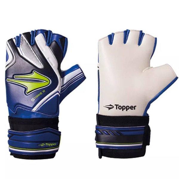 Luvas Goleiro Futsal Topper Strike 17 Azul