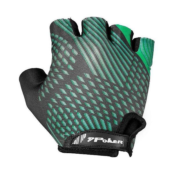 Luva Bike Ciclismo Poker Antishock Gel Sharp II Verde