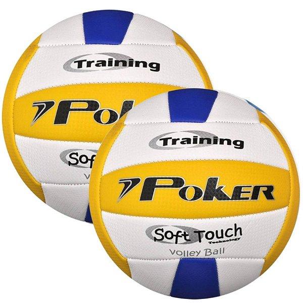Kit 2 Bolas Vôlei Poker Training Oficial