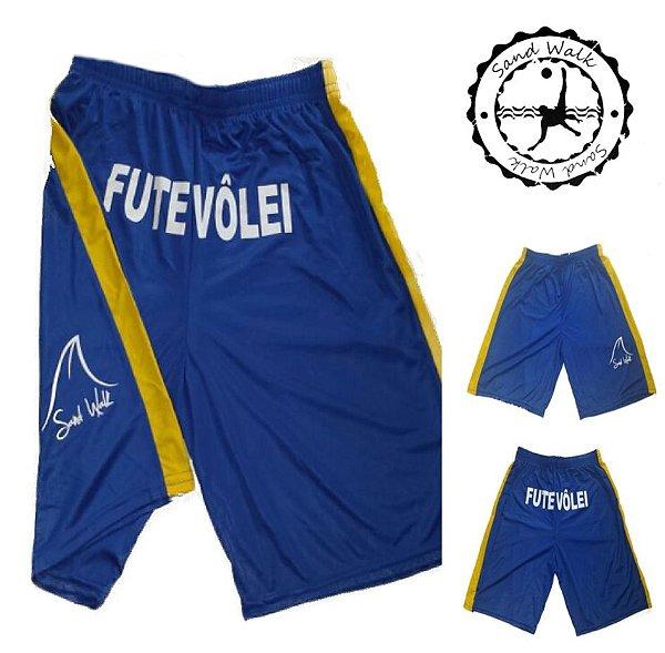 Shorts Futevôlei Sand Walk Azul/Amarelo