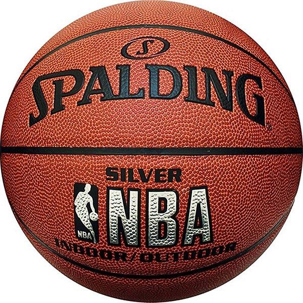 Bola de Basquete Spalding Silver NBA Indoor/Outdoor