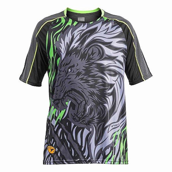 Camisa Goleiro Poker Sublimax Lion Manga Curta