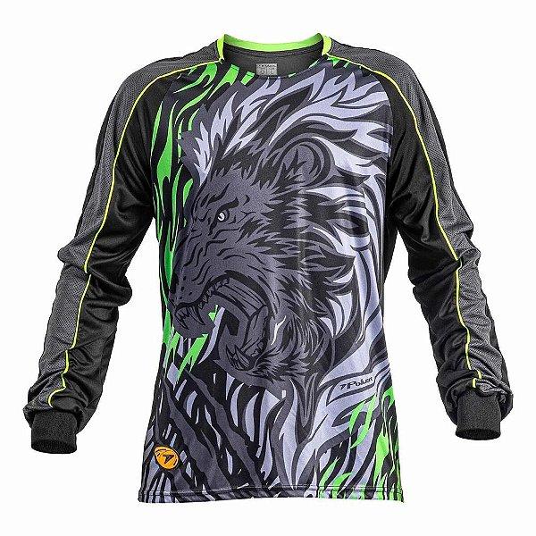 Camisa Goleiro Poker Sublimax Lion Manga Longa