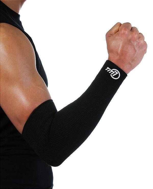 Protetor De Antebraço Longo Para Voleibol BRAC7 Preto