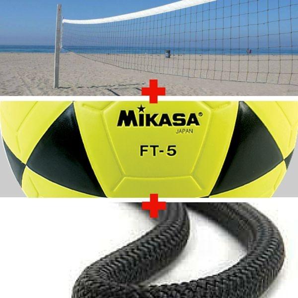 Combo Futevôlei Mikasa Ft5 + Rede + Marcação de Corda - ShopSam ... 4dba70f088ce4