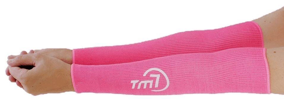 Protetor De Antebraço Longo Para Voleibol BRAC7 Rosa Punho Branco