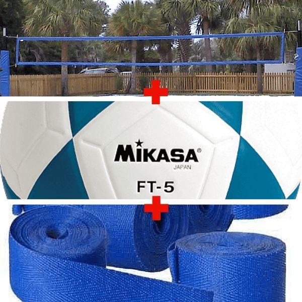 Combo Futevôlei Mikasa Ft5 + Rede 4 Faixa + Marcação de Fita ... 99cc6022eeb6e